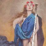 Destrozado en Córdoba un cuadro de una artista semidesnuda que simula a una virgen