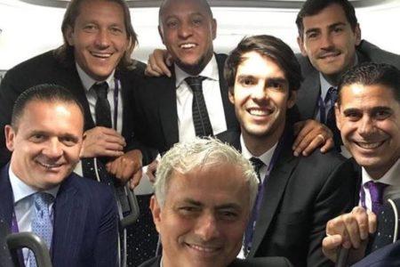 La foto del reencuentro: Casillas y Mourinho se ven las caras junto a otras leyendas del Real Madrid