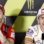 Márquez sonríe ante el duelo de Ducati
