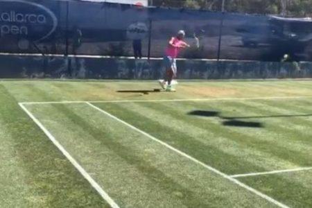 Nadal ya prepara Wimbledon en la hierba de Mallorca